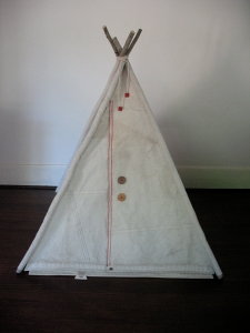 Teepee front view flaps closed