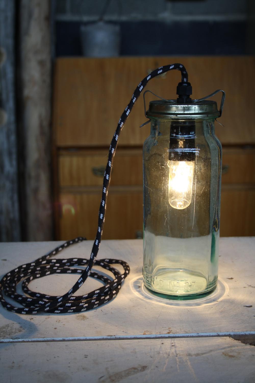 Recycled Depression Era Glass Fowler Jar Pendant Lights Greg Hatton