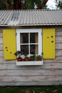 Cubby House shutters open