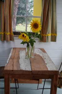 Cubby House table shutters open